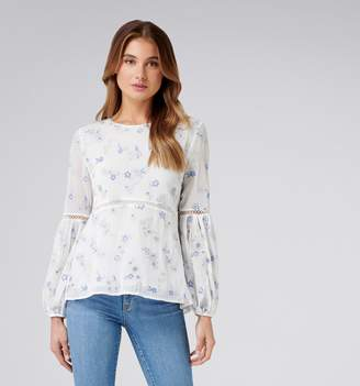 Forever New Mina Multi Colour Embroidered Blouse