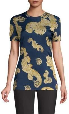 Versace Swirl-Print Crewneck