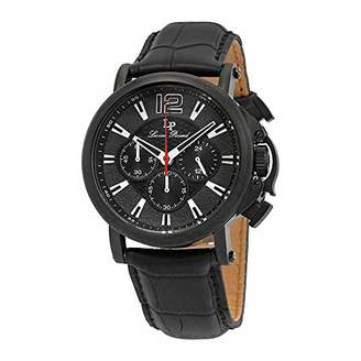 Lucien Piccard Men's 'Triomf' Quartz Stainless Steel and Leather Watch