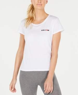 Volcom Juniors' Cotton Graphic-Print T-Shirt