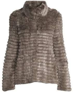 Glamour Puss Glamourpuss Sheared Rabbit Coat
