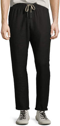 Antony Morato Men's Textured Slub Sweatpants, Black