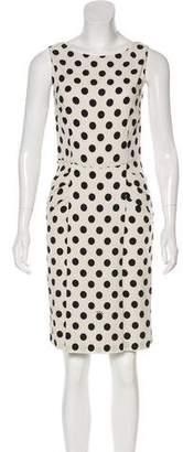 Prada Polka Dot Print Bodycon Dress