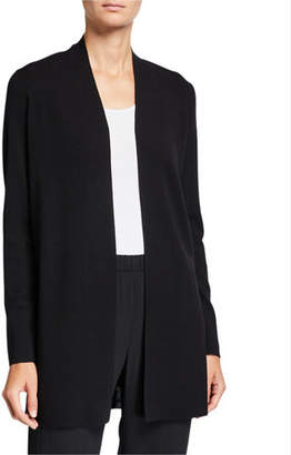 Eileen Fisher Ultrafine Merino Wool Straight Long Cardigan
