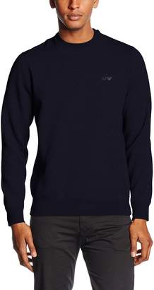 Armani Jeans Men's Regular Fit Logo Crewneck Sweatshirt