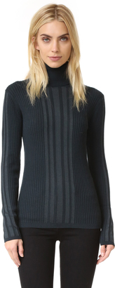 DKNY Ribbed Turtleneck Pullover $298 thestylecure.com