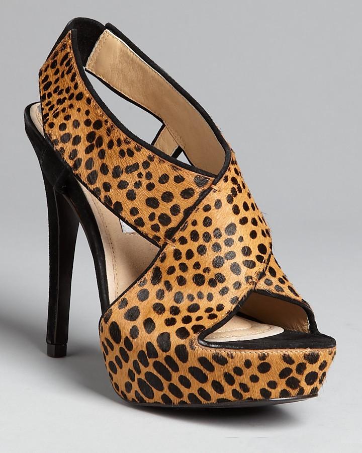 Diane von Furstenberg Platform Slingback Sandals - Zia Haircalf