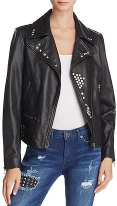 True Religion Studded Leather Jacket