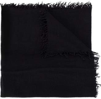 Faliero Sarti wide distressed finish scarf
