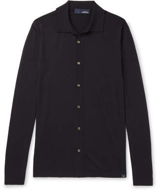 Lardini Wool, Silk And Cashmere-Blend Shirt