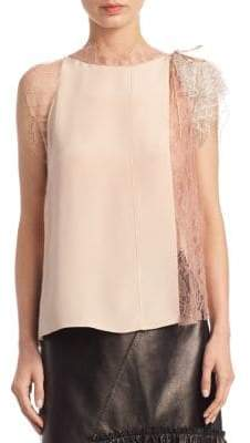 3.1 Phillip Lim Lace Silk Top