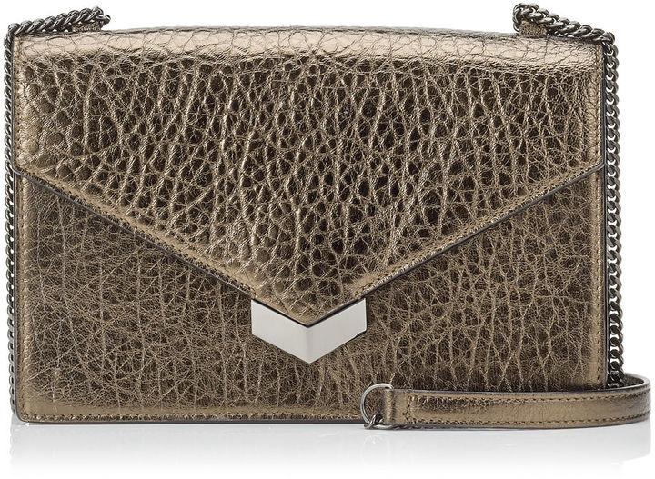 Jimmy ChooLEILA Dore Metallic Grainy Leather Mini Cross Body Bag