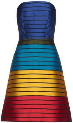 Mary Katrantzou Freesia strapless striped colour-block dress