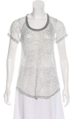 Etoile Isabel Marant Semi-Sheer Scoop Neck T-Shirt