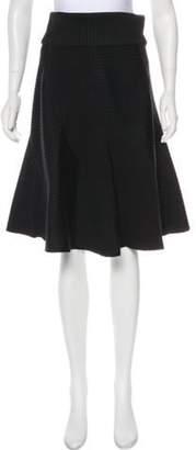 Louis Vuitton A-Line Knee-Length Skirt Black A-Line Knee-Length Skirt