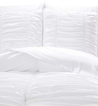 De Moocci Romantic Ruched Pleat 8-Piece Luxury Unique Comforter Set - Premium Hypoallergenic All Season Comforter Set Bedding