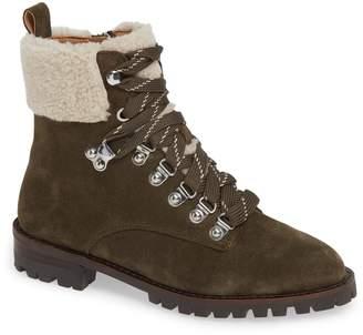Rebecca Minkoff Faux Shearling Cuff Hiking Boot