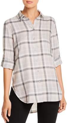 Calvin Klein Double-Cross Plaid Boyfriend Shirt