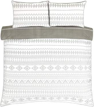 Very Monochrome Aztec Duvet Cover Set