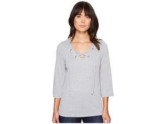 Kensie Subtle Slub Tees KS4K3507 Women's T Shirt