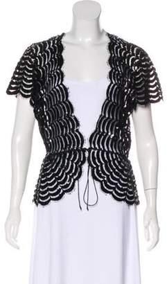 Marc Jacobs Semi-Sheer Sequin Blouse Black Semi-Sheer Sequin Blouse