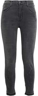 J Brand Cropped Faded High-rise Skinny Jeans