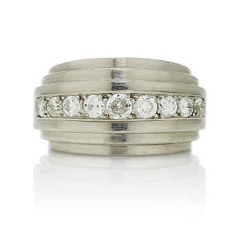 Vintage Rene Boivin Platinum And Diamond Quatre Plans Ring