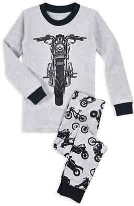 Sara's Prints Boys' Motorcycle Pajama Shirt & Pants Set - Little Kid