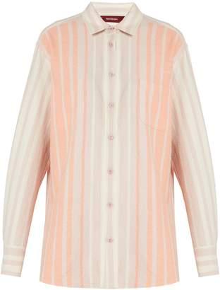 SIES MARJAN Striped brushed-cotton shirt