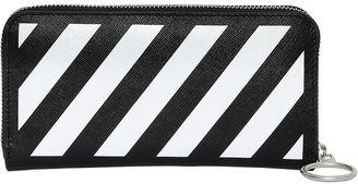 Stripes Printed Zip Around Wallet $238 thestylecure.com
