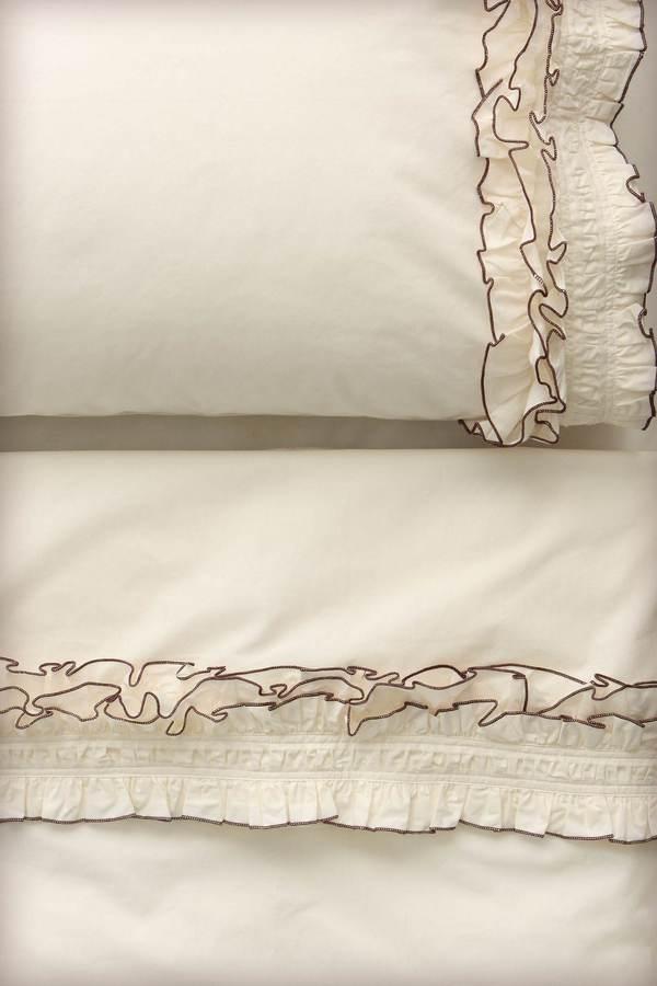 Ruffled Sheet Set, Cream