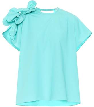 DELPOZO Cotton poplin top