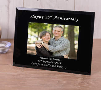 Nest Personalised Black Glass Picture Frame