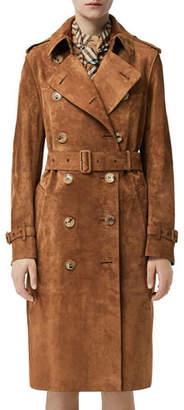 Burberry Haddington Suede Trench Coat