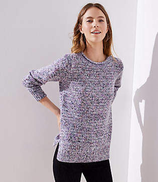 LOFT Marled Roll Neck Sweater