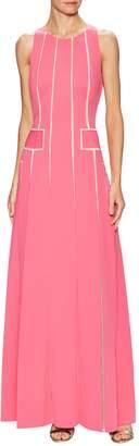 Carolina Herrera Women's Laser Cut Flared Gown