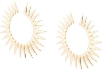 Oscar de la Renta large Sea Urchin earrings