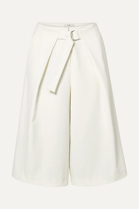 Tibi Draped Stretch-crepe Shorts - Ivory