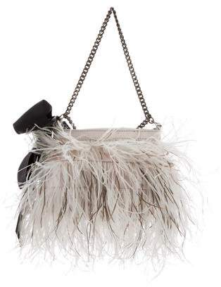 By Malene Birger Feather-Accented Satin Bag