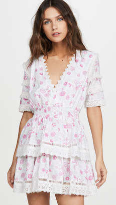 Place Nationale La Pinede Floral Print Tiered Mini Dress