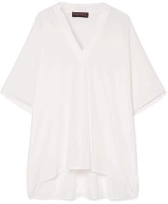 Hatch Crepe Top - White