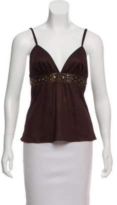 Dolce & Gabbana Sleeveless Metallic Top