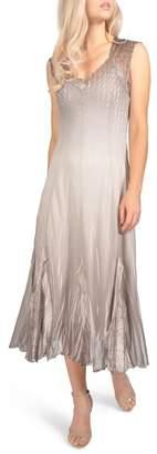 Komarov Chiffon & Lace Dress (Regular & Petite)