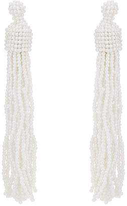 Kenneth Jay Lane WOMEN'S BEADED TASSELED DROP EARRINGS