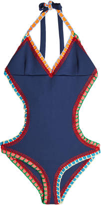Kiini Soley Swimsuit with Cut-Out Detail and Crochet Trims
