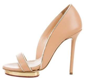 Charlotte Olympia Leather D'Orsay Pumps