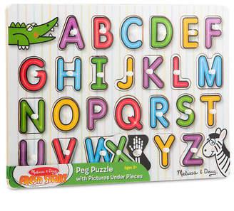 Melissa & Doug NEW See Inside Alphabet Peg Puzzle 26pce