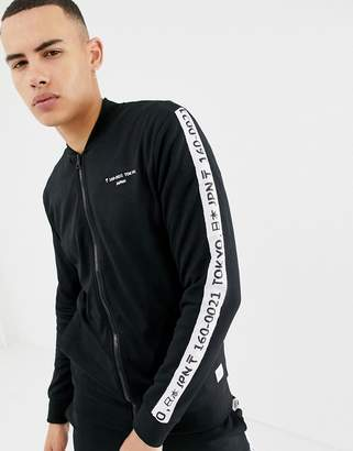 ONLY & SONS tracksuit jacket with japan side stripe