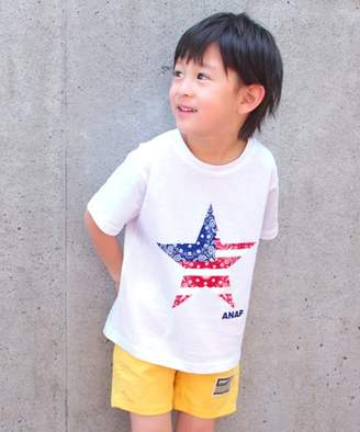 ANAP (アナップ) - ANAP KIDS ペイズリー星プリントビッグTシャツ