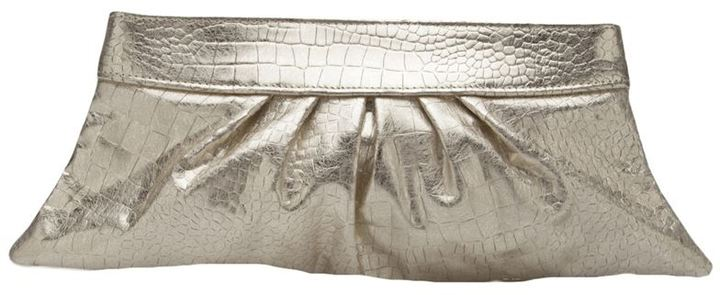 Lauren Merkin 'Louise' brushed crocodile clutch